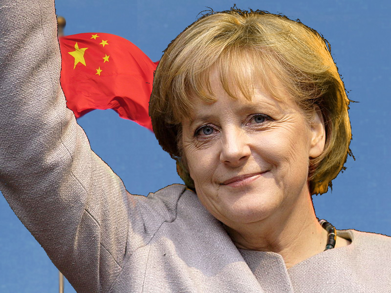Wiki Commons Collage - Merkel China