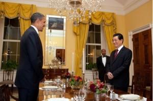 US - Präsident Barack Obama empfängt seinen Amtskollegen Hu Jintao in Washington. Nicht immer geht es zwischen China und den USA so harmonisch zu, wie bei diesem Treffen Anfang des Jahres 2011 ©Pete Souza/White House