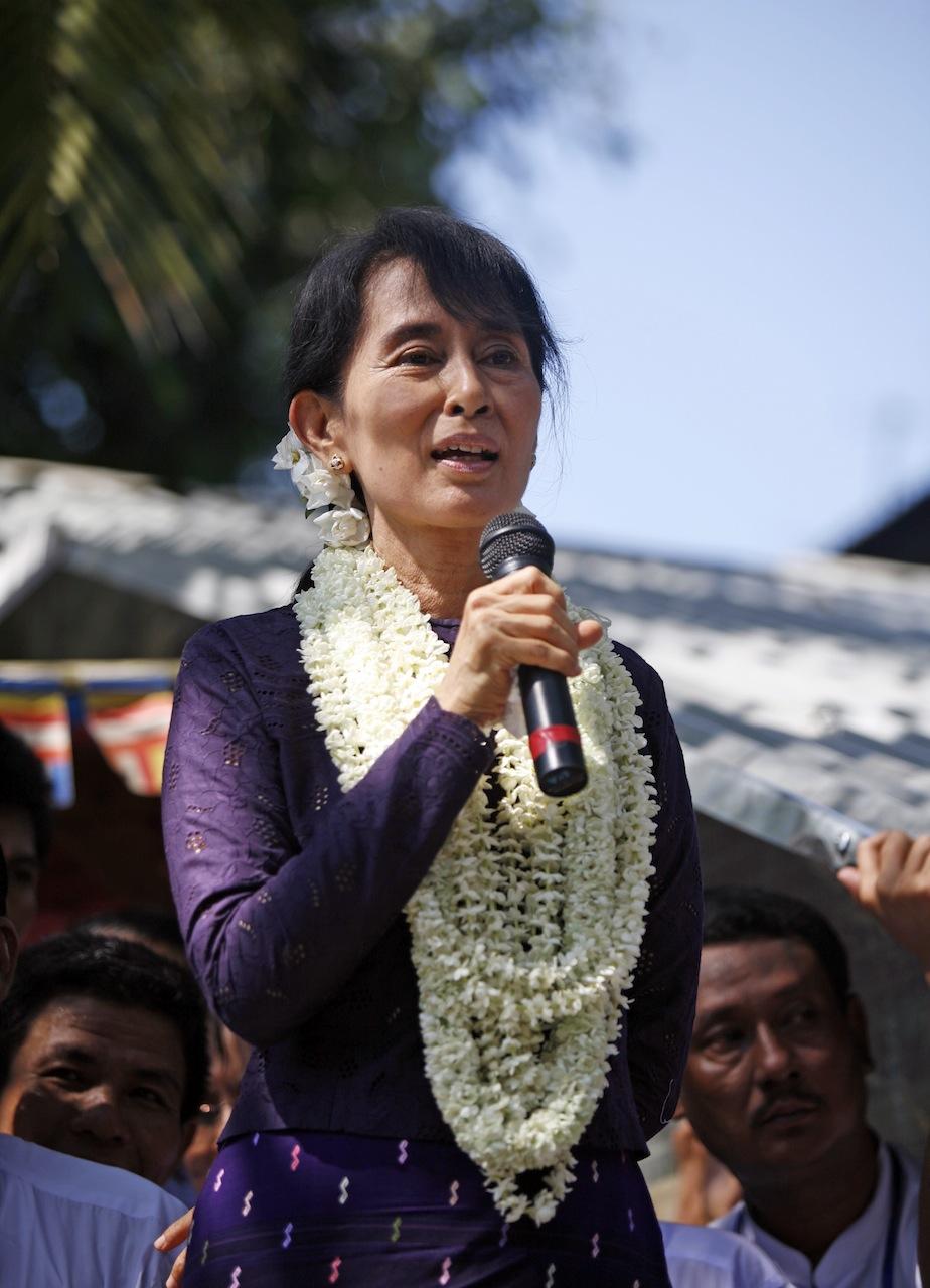 Die Oppositionsführerin Aung San Suu Kyi erhält von vielen chinesischen Netizens Zuspruch für ihren Mut. ©Htoo Tay Zar via Wikimedia Commons