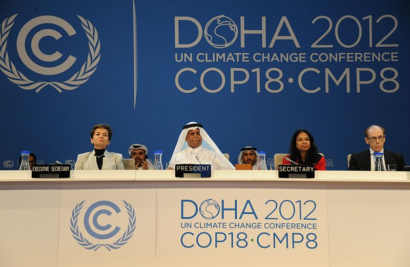 Die Konferenzleitung in Doha, 2012. ©UNclimatechange