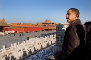 Barack Obama, hier während eines Besuchs in China 2009, bleibt im Amt und wird für  vier weitere Jahre maßgeblich die China-Politik der USA bestimmen. ©white house staff via wikicommons