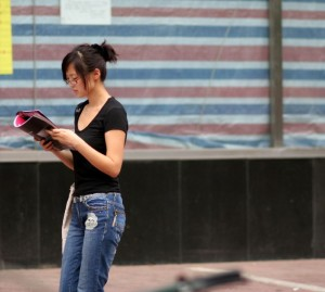 Chinesische Studentin - Wird sich das Lernen lohnen? © Ernie