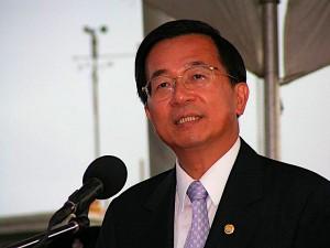 Der ehemalige Präsident Chen Shui-Bian bei einer Rede im Vorfeld seiner Verhaftung © Jamali Jack via Wikimdie Commons