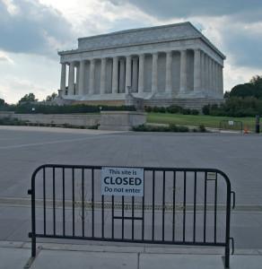 Auch das Lincoln Memorial blieb während des Shutdowns geschlossen. Ein Symbol für den Abstieg der Supermacht? © reivax, via Wikimedia Commons