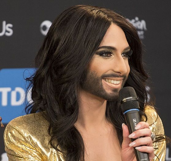 Conchita Wurst ESC 2014 Meet and Greet (Wikimedia Commons)