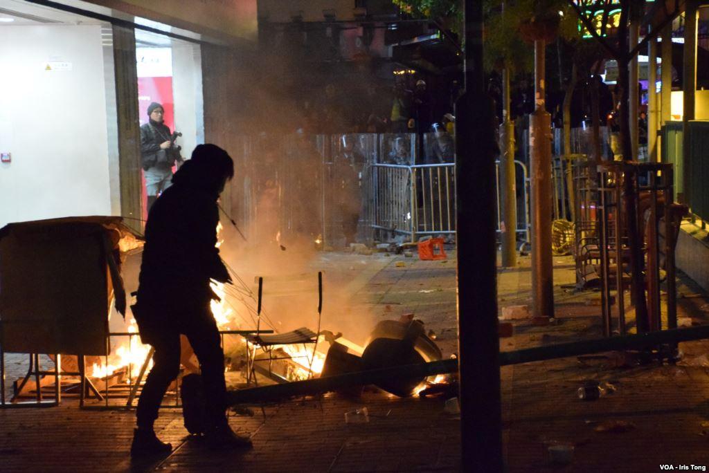 Unruhen in Hongkong; Foto: Iris Tong via Wikipedia