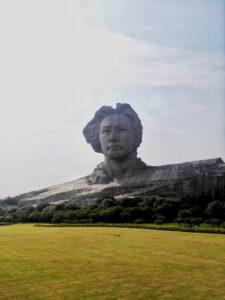Die riesige Mao-Büste in Changsha ist auch heute noch ein Pilgerort für Mao-Verehrer. Foto: Wang Zhuo