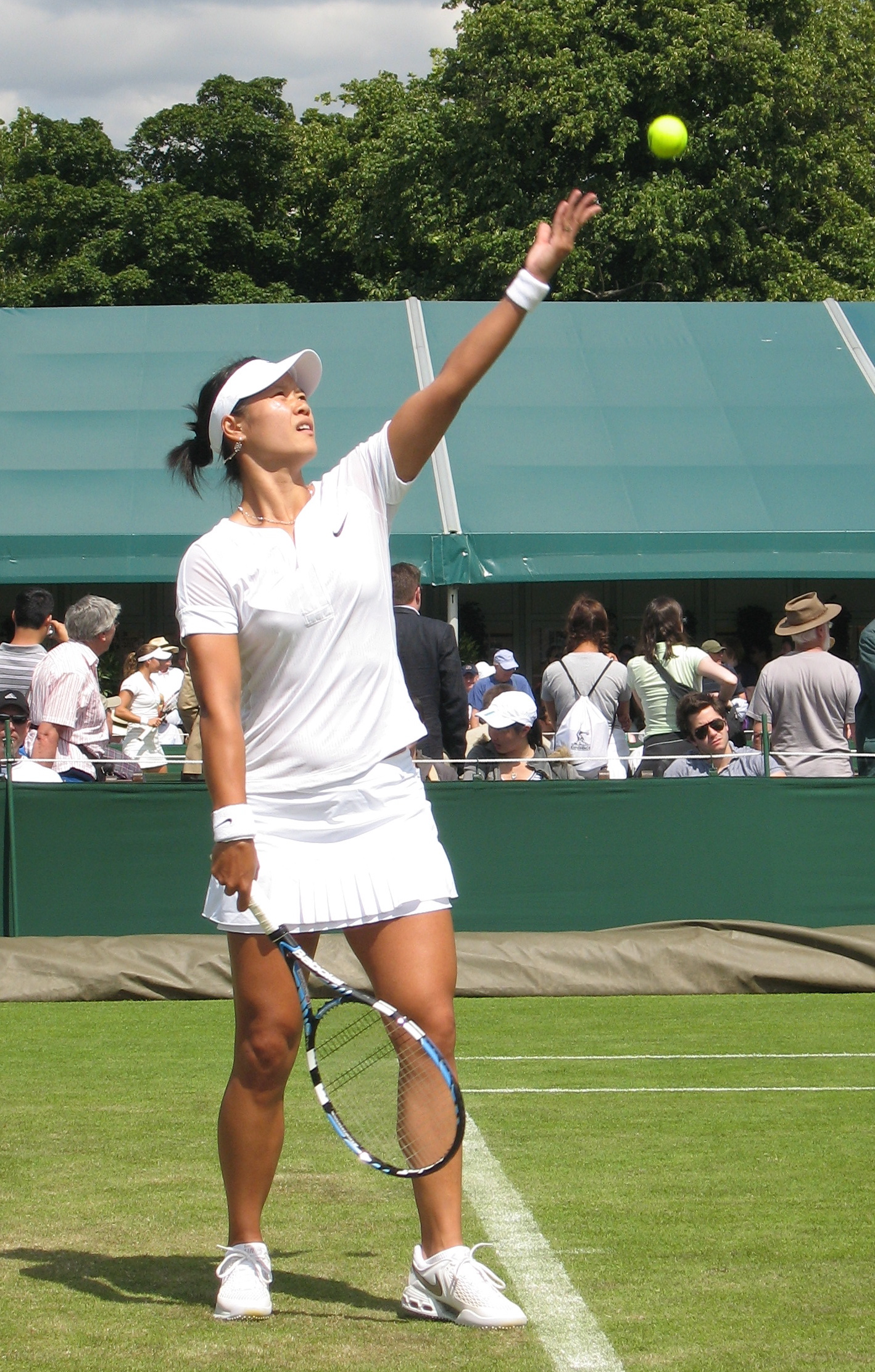 Li Na 2008 in Wimbledon. Foto: Chris Ng via Wikipedia.
