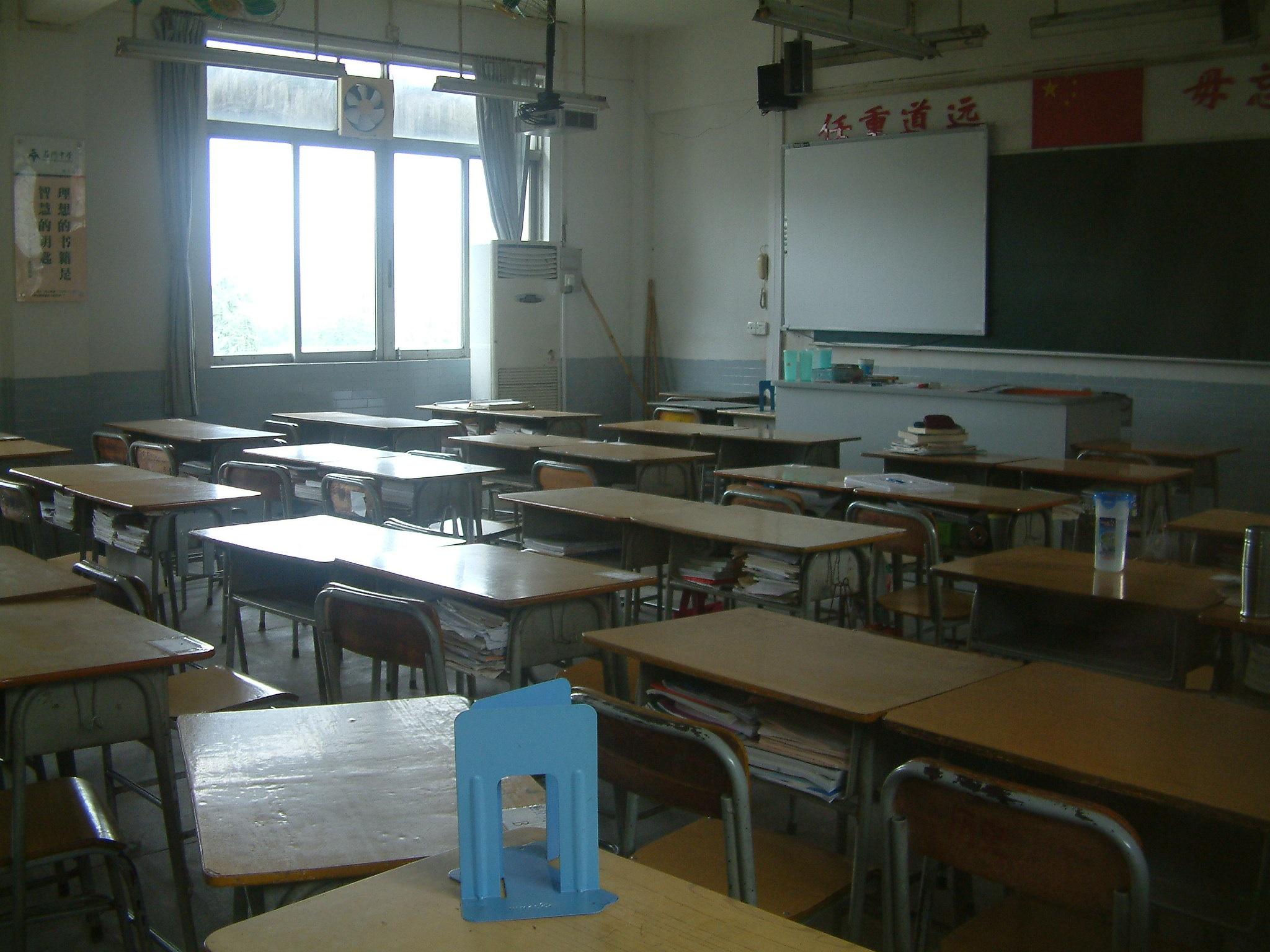 Ein Klassenzimmer im südchinesischen Foshan im Jahr 2010. Foto: Florian Jung.
