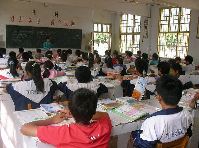 Klassenzimmer in China. Foto: Rex Pe via Flickr.