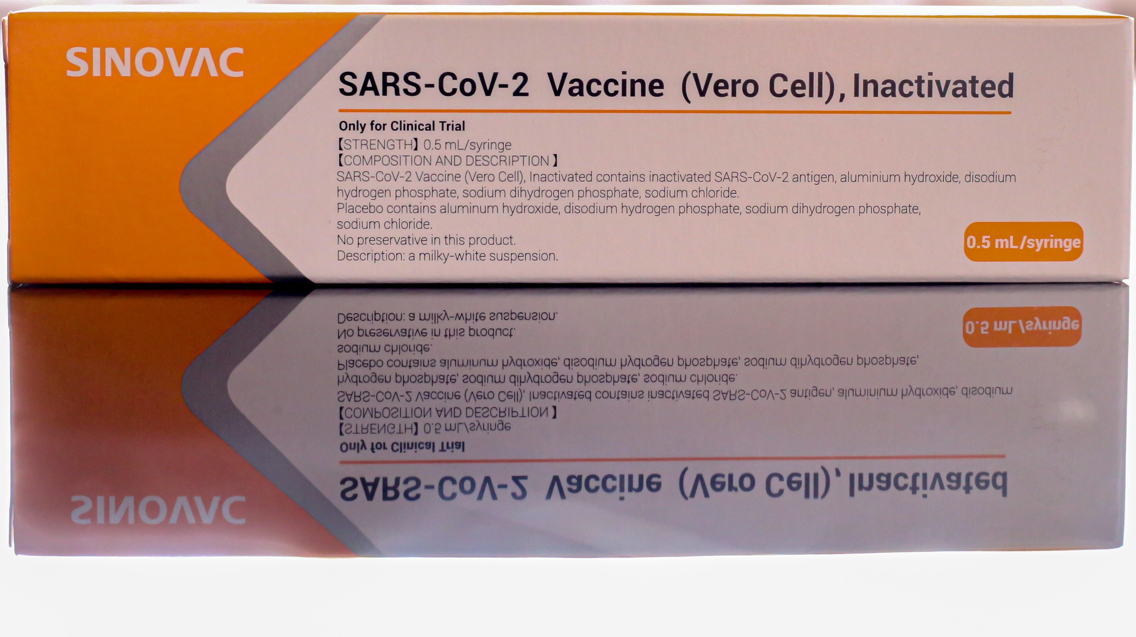 Ein Impfpräparat des chinesischen Herstellers Sinovac.(c)  https://en.wikipedia.org/wiki/CoronaVac#/media/File:SINOVAC_COVID-19_vaccine.jpg